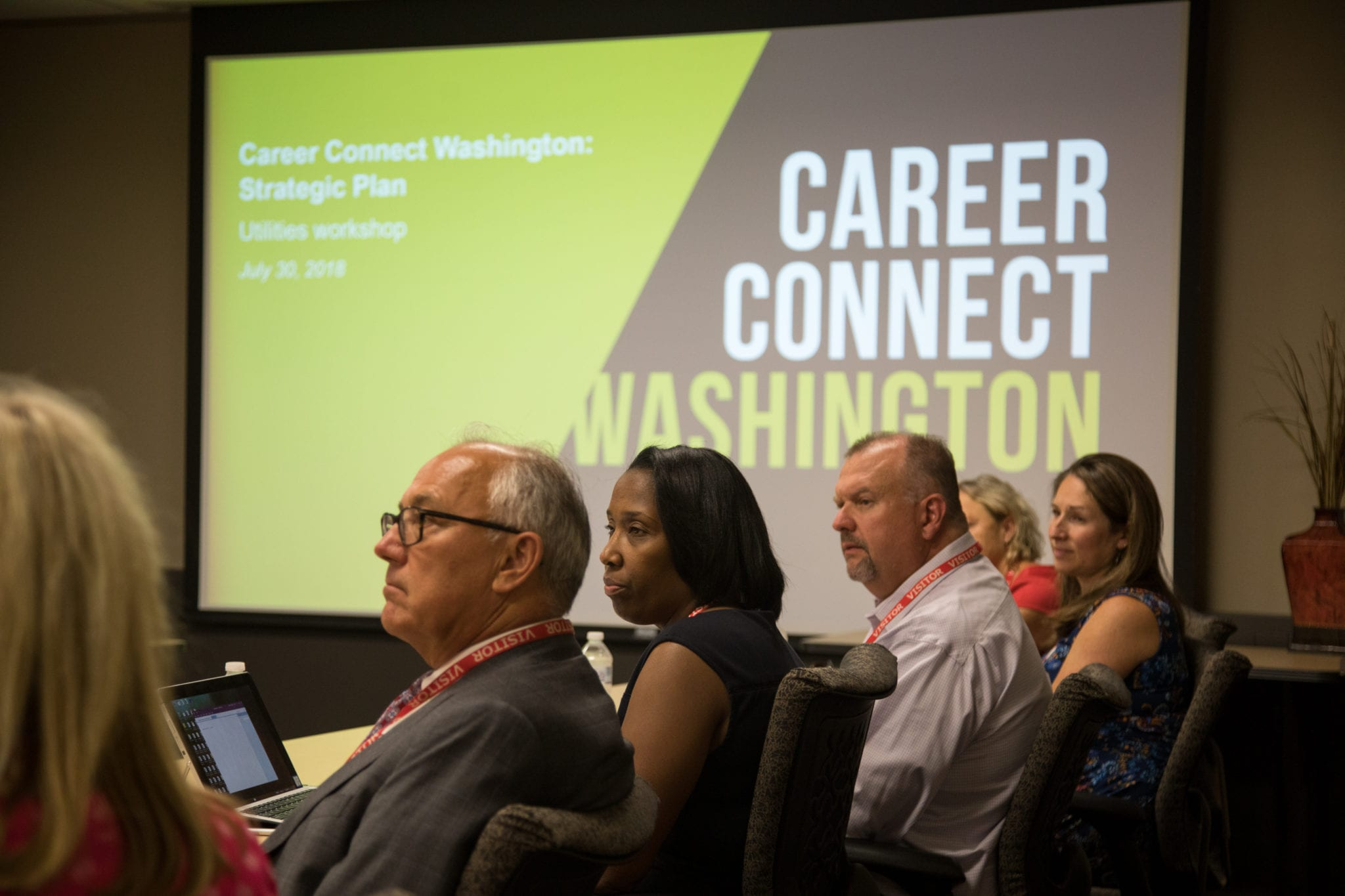 Group of people at Career Connect Washington meeting